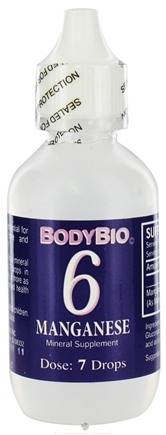DROPPED: Body Bio - Liquid Minerals Manganese 6 - 2 oz. CLEARANCE PRICED