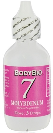 DROPPED: Body Bio - Liquid Minerals Molybdenum 7 - 2 oz. CLEARANCE PRICED
