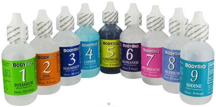 DROPPED: Body Bio - Liquid Minerals Set 1-9 - CLEARANCE PRICED