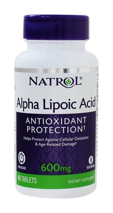 Natrol - Alpha Lipoic Acid TR Time Release 600 mg. - 45 Tablets