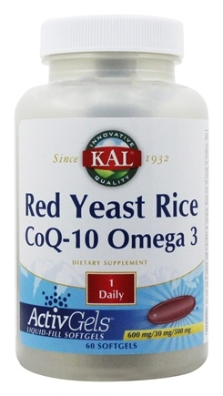 Zoom View - Red Yeast Rice CoQ-10 Omega 3 600/30/500 mg