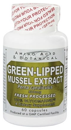 DROPPED: Amino Acid & Botanical - Green-Lipped Mussel Extract 500 mg. - 60 Capsules