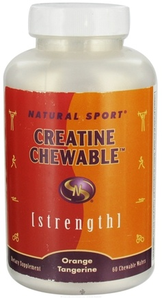DROPPED: Natural Sport - Strength Creatine Chewable Orange Tangerine - 60 Chewable Wafers CLEARANCE PRICED