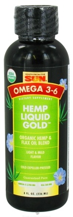 DROPPED: Health From The Sun - Omega 3-6 Hemp Liquid Gold Light & Mild Flavor - 8 oz. Formerly Expeller-Pressed. CLEARANCE PRICED