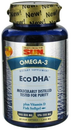 DROPPED: Health From The Sun - Omega-3 Eco DHA Plus Vitamin D Orange Flavor - 60 Softgels