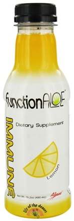 DROPPED: Lily Of The Desert - Function Aloe Immune RTD Lemon - 16.2 oz. CLEARANCE PRICED