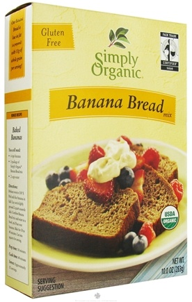 DROPPED: Simply Organic - Banana Bread Mix Gluten Free - 10 oz.