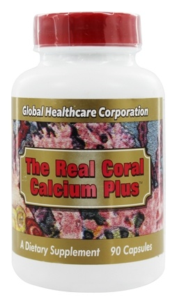Global Healthcare - The Real Coral Calcium Plus - 90 Capsules