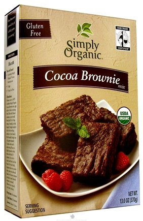 DROPPED: Simply Organic - Gluten Free Cocoa Brownie Mix - 13 oz.