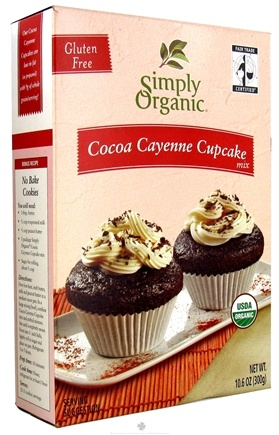 DROPPED: Simply Organic - Gluten Free Cocoa Cayenne Cupcake Mix - 10.6 oz. CLEARANCE PRICED