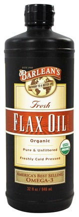 Barlean's - Fresh Flax Oil 100% Organic Pure & Unfiltered Cold Pressed - 32 oz.
