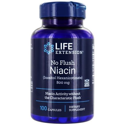 Life Extension - No Flush Niacin 800 mg. - 100 Capsules