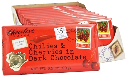 DROPPED: Chocolove - Dark Chocolate Bar Chilies & Cherries - 3.2 oz.