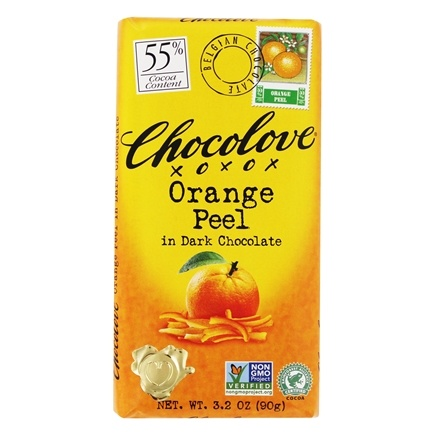 Chocolove - Dark Chocolate Bar Orange Peel - 3.2 oz.