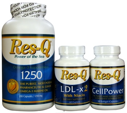 DROPPED: Res-Q - Cholesterol Well-Being Trial Pack: Res-Q 1250, LDL x2 with Niacin, Cell Power