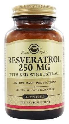 Solgar - Resveratrol With Red Wine Extract 250 mg. - 60 Softgels