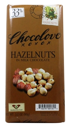 DROPPED: Chocolove - Milk Chocolate Bar Hazelnuts - 3.2 oz.