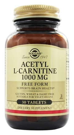 Solgar - Acetyl L-Carnitine Free Form 1000 mg. - 30 Tablets