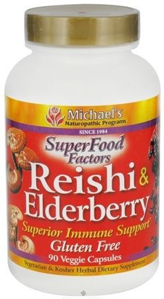 DROPPED: Michael's Naturopathic Programs - SuperFood Factors Reishi & Elderberry Superior Immune Support - 90 Vegetarian Capsules