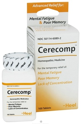 DROPPED: BHI/Heel - Cerecomp For Mental Fatigue & Poor Memory - 100 Tablets