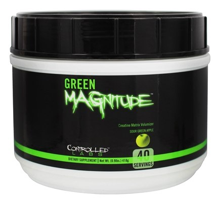 Controlled Labs - Green Magnitude Creatine Matrix Volumizer Sour Green Apple - 0.9 lbs.