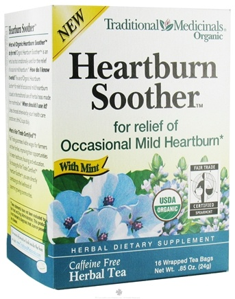 DROPPED: Traditional Medicinals - Heartburn Soother Tea with Mint - 16 Tea Bags CLEARANCE PRICED