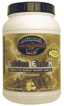 Zoom View - Golden Finish Optimized Post Workout Recovery Complex