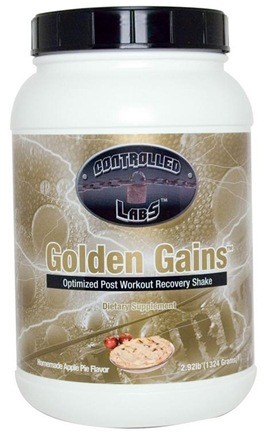 Zoom View - Golden Gains Optimized Post Workout Recovery Shake