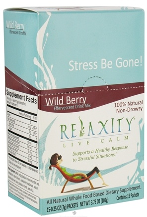 DROPPED: Neriah Naturals - Relaxity Live Calm 100% Natural Whole Food Effervescent Drink Mix Non-Drowsy Wild Berry - 15 Packet(s)