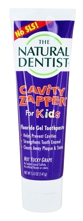Natural Dentist - Cavity Zapper Fluoride Gel Toothpaste Groovy Grape - 5 oz.