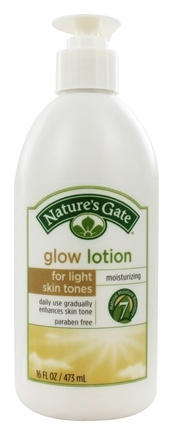 DROPPED: Nature's Gate - Glow Lotion for Light Skin Tones - 16 oz.