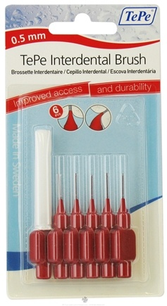DROPPED: TePe Oral Health Care - Interdental Brush 0.5 mm Red - 6 Piece(s)