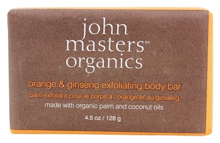 John Masters Organics - Bar Soap For Body Exfoliating Orange & Ginseng - 4.5 oz.