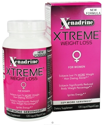 DROPPED: Cytogenix Laboratories - Xenadrine Xtreme Weight Loss For Women - 120 Liquid Capsules