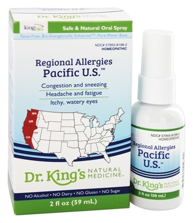 King Bio - Homeopathic Regional Allergies Pacific U.S. Natural Medicine Spray - 2 oz.
