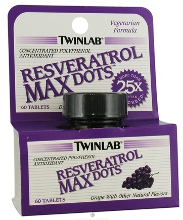 DROPPED: Twinlab - Resveratrol Max Dots - 60 Tablets CLEARANCE PRICED