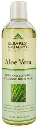 DROPPED: Clearly Natural - Pure and Natural Glycerine Body Wash Aloe Vera - 16 oz.