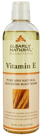 DROPPED: Clearly Natural - Pure and Natural Glycerine Body Wash Vitamin E - 16 oz. CLEARANCE PRICED