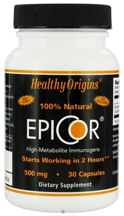 DROPPED: Healthy Origins - EpiCor High-Metabolite Immunogens 500 mg. - 30 Capsules CLEARANCE PRICED