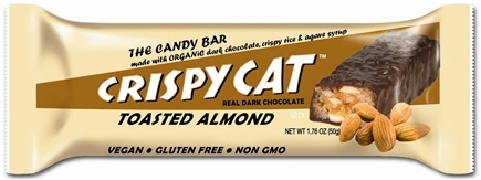 DROPPED: NuGo Nutrition - Crispy Cat Organic Candy Bar Toasted Almond - 1.76 oz. CLEARANCE PRICED