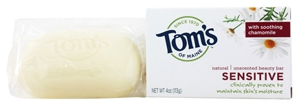 Tom's of Maine - Natural Beauty Bar Sensitive Unscented - 4 oz.