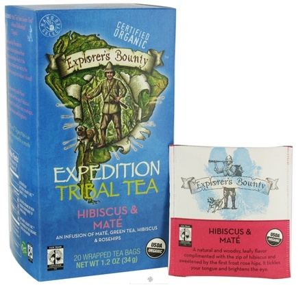 DROPPED: Explorer's Bounty - Organic Expedition Tribal Tea Hibiscus & Mate - 20 Tea Bags