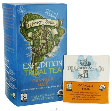 DROPPED: Explorer's Bounty - Organic Expedition Tribal Tea Orange & Mate - 20 Tea Bags
