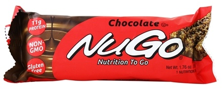 DROPPED: NuGo Nutrition - To Go Protein Bar Chocolate - 1.76 oz.
