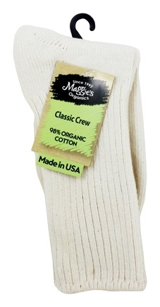 Maggie's Organics - Socks Cotton Crew Size 9-11 Natural - 1 Pair