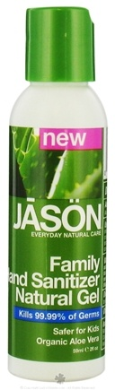 DROPPED: Jason Natural Products - Hand Sanitizer Natural Gel Family Travel Size - 2 oz. CLEARANCE PRICED