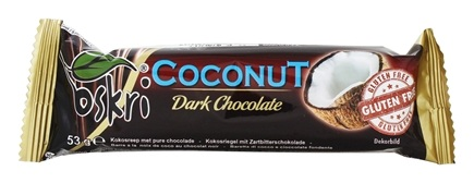 Zoom View - Organic Coconut Bar Dark Chocolate Gluten-Free