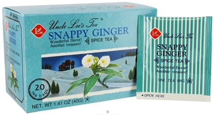 DROPPED: Uncle Lee's Tea - Spice Tea Snappy Ginger - 20 Tea Bags