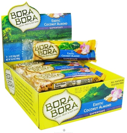 DROPPED: Bora Bora - All Natural Superfood Bar Exotic Coconut Almond - 1.4 oz. CLEARANCE PRICED