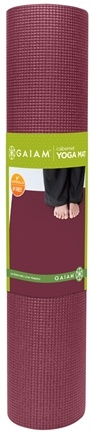 DROPPED: Gaiam - Yoga Mat Cabernet - CLEARANCE PRICED